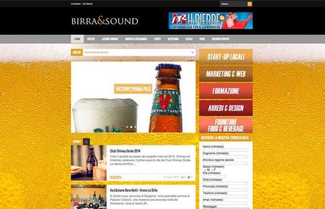 realizzazione sito internet rivista intrattenimento birra & sound