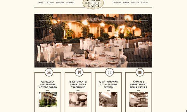 Restyling sito web Agriturismo Borghetto d'Arci