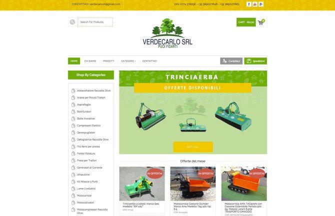 realizzazione sito web ecommerce verdecarlo