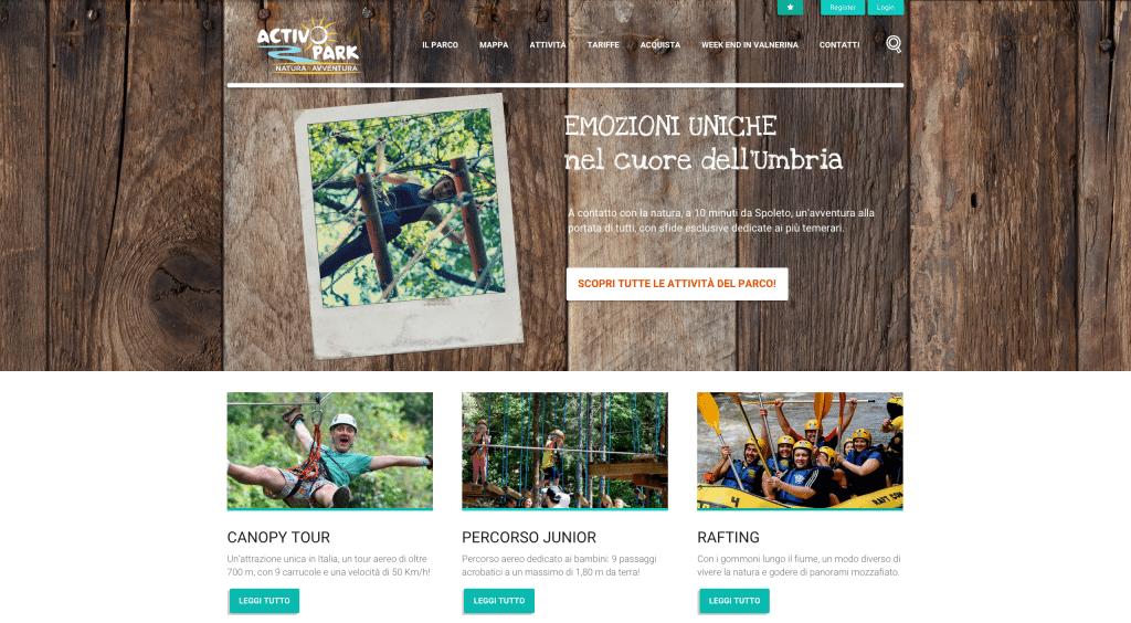 Restyling sito parco avventura ecommerce wordpress prodigito for Cosma arredamenti