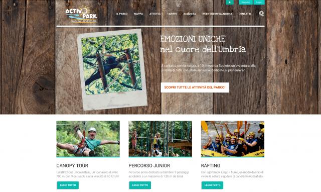 Realizzazione sito web per parco avventura