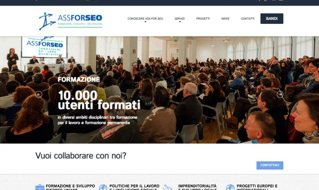 Realizzazione sito web per società di formazione professionale