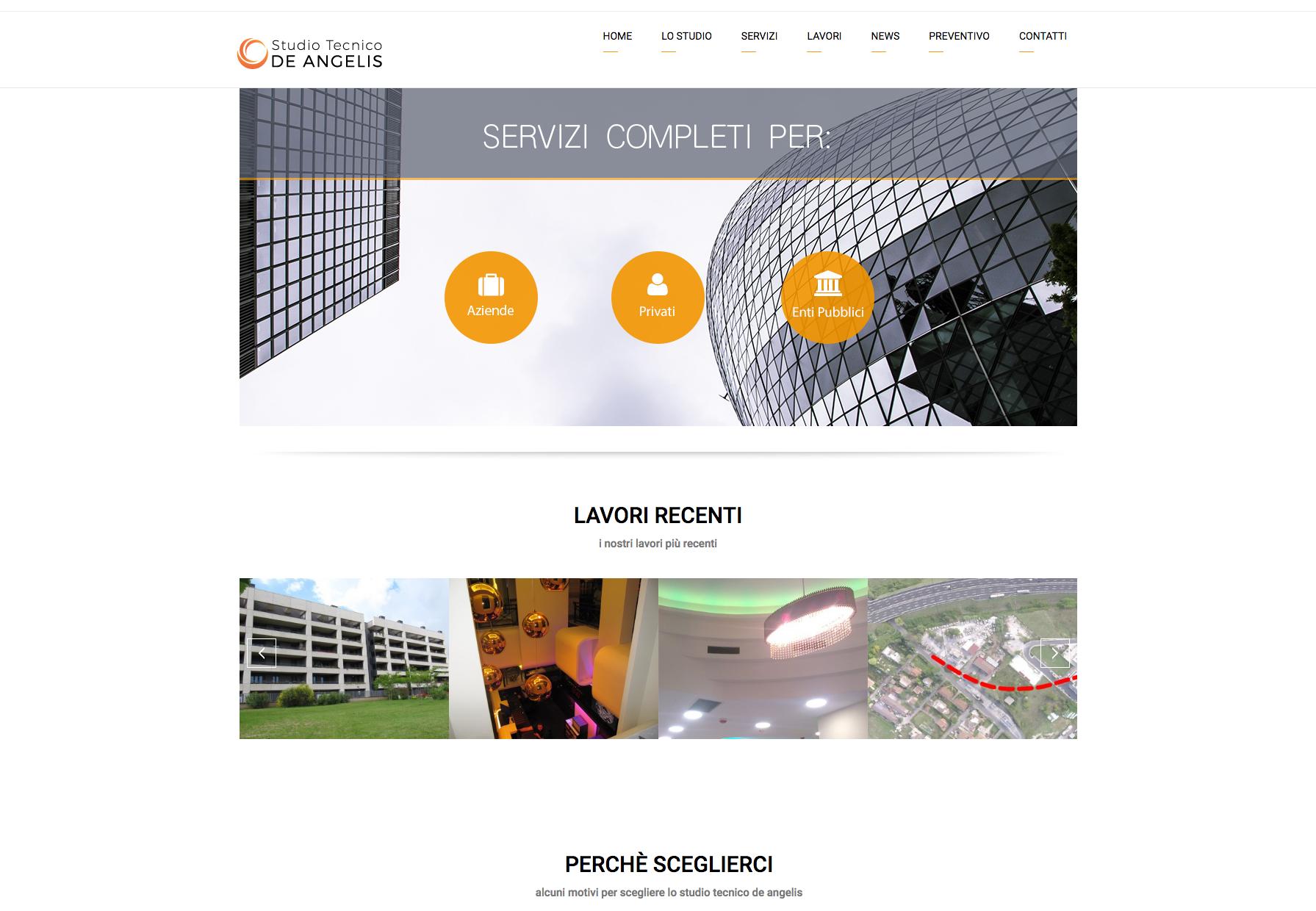 Realizzazione sito web studio tecnico portfolio for Cosma arredamenti