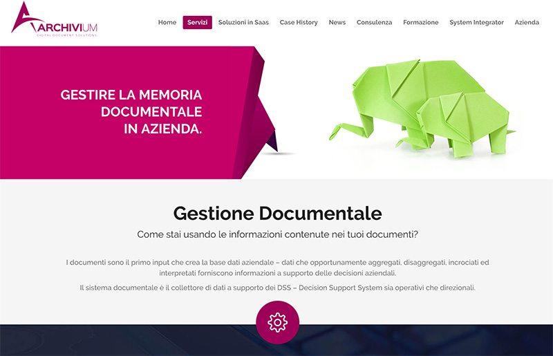 landing page gestione documentale