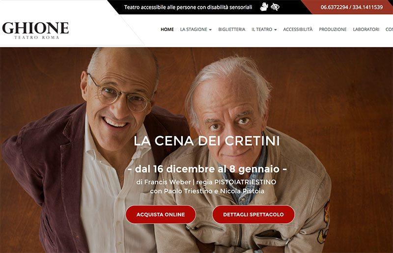 Sito web realizzato per il teatro ghione di roma for Cosma arredamenti