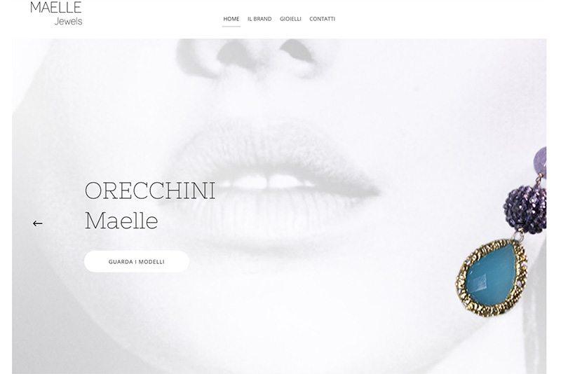 Realizzazione sito web produttore gioielli Maelle