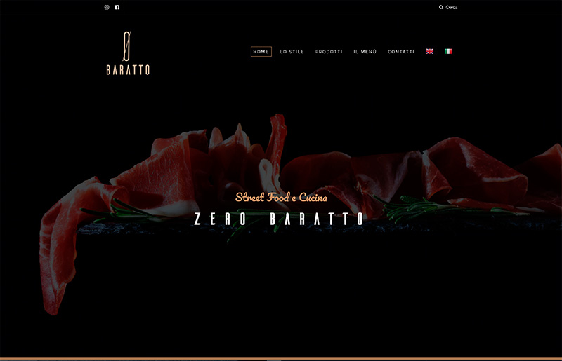 Creazione sito web ecommerce Zero Baratto - vendita vini e gastronomia